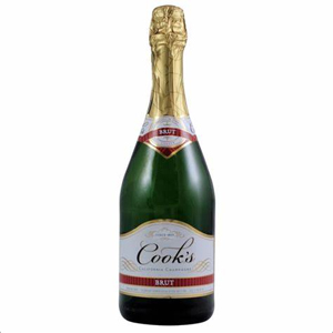 Cooks Brut Champagne Wine 750ml  It has a lively and fruity aroma with notes of fresh apple and pear. Roasted and dry. Sparkling wine.